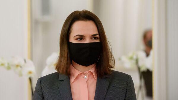 Była kandydatka w wyborach prezydenckich na Białorusi, liderka białoruskiej opozycji Swiatłana Cichanouska. - Sputnik Polska