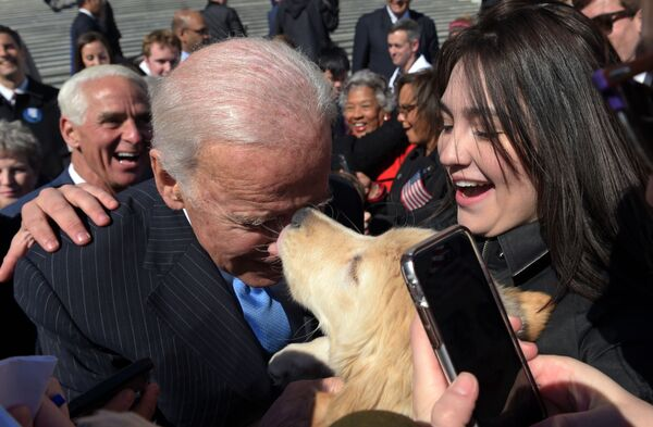 Joe Biden w Waszyngtonie - Sputnik Polska