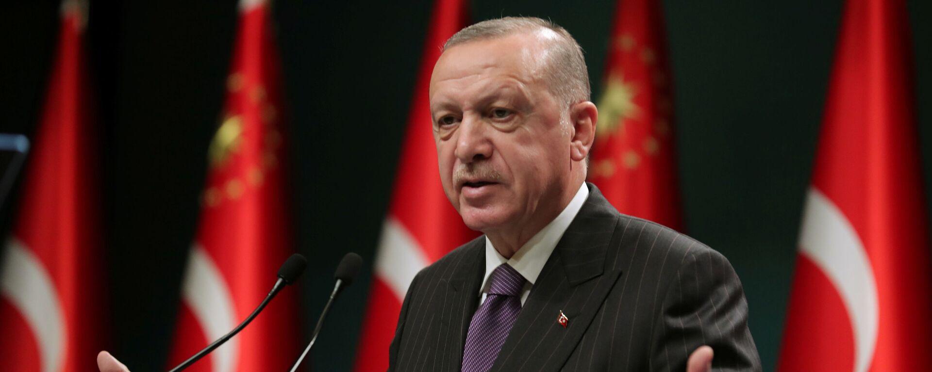 Prezydent Turcji Recep Tayyip Erdogan - Sputnik Polska, 1920, 12.01.2021