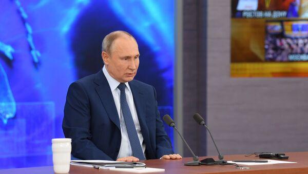 Doroczna konferencja Władimira Putina - Sputnik Polska