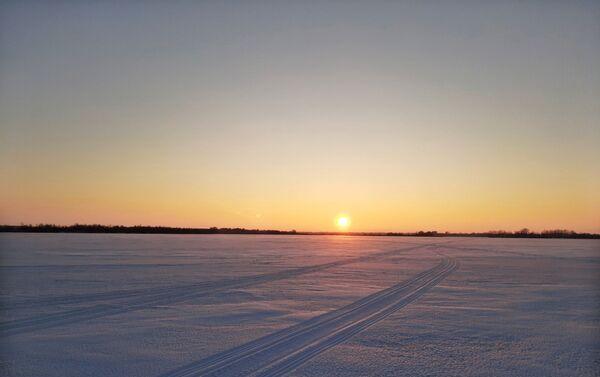 Rzeka Wołga w zimie - Sputnik Polska