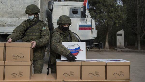 Rosyjscy żołnierze w Górskim Karabachu - Sputnik Polska