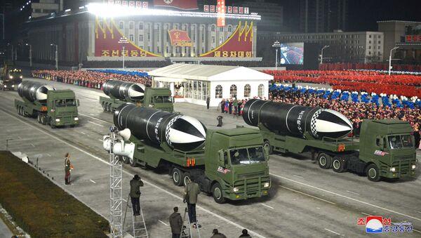Parada wojskowa z okazji VIII zjazdu Partii Pracy Korei w Pyongyang - Sputnik Polska