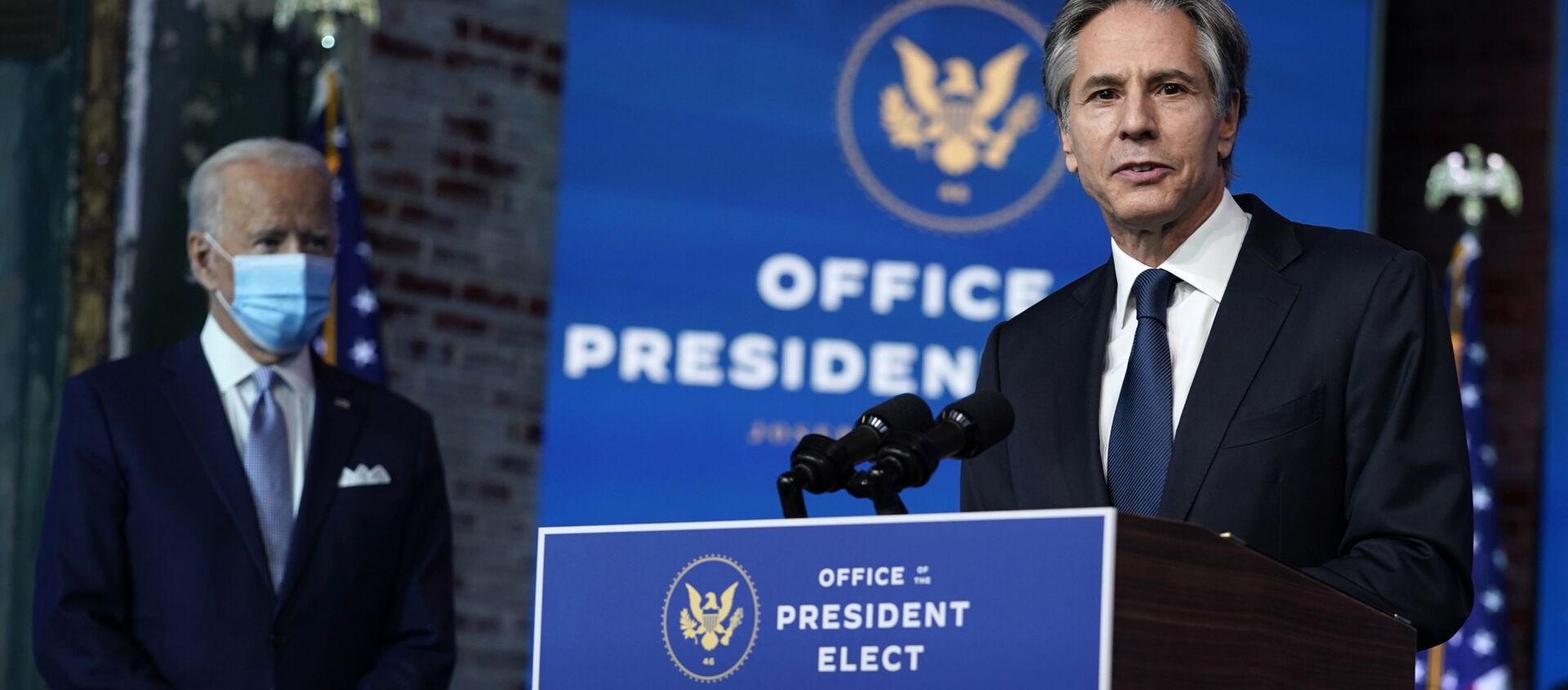 Kandydat na sekretarza stanu USA Tony Blinken – 24 listopada 2020, Wilmington - Sputnik Polska, 1920, 02.02.2021