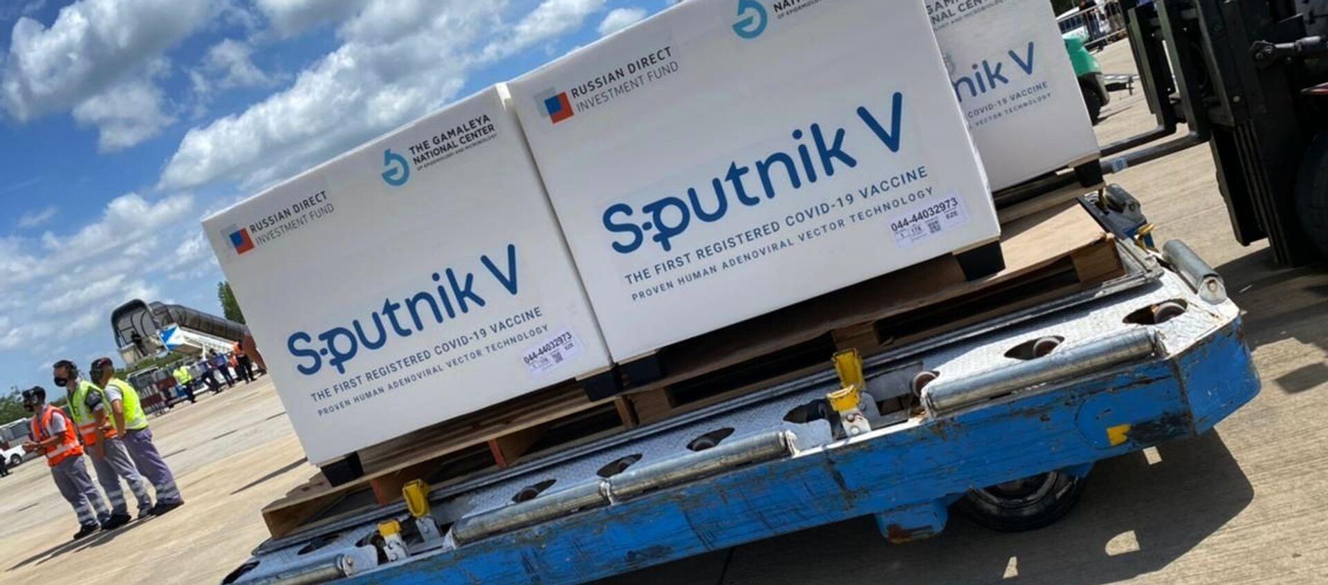 "Rosyjska szczepionka ""Sputnik V"" na lotnisku w Buenos Aires - Sputnik Polska, 1920, 20.02.2021"