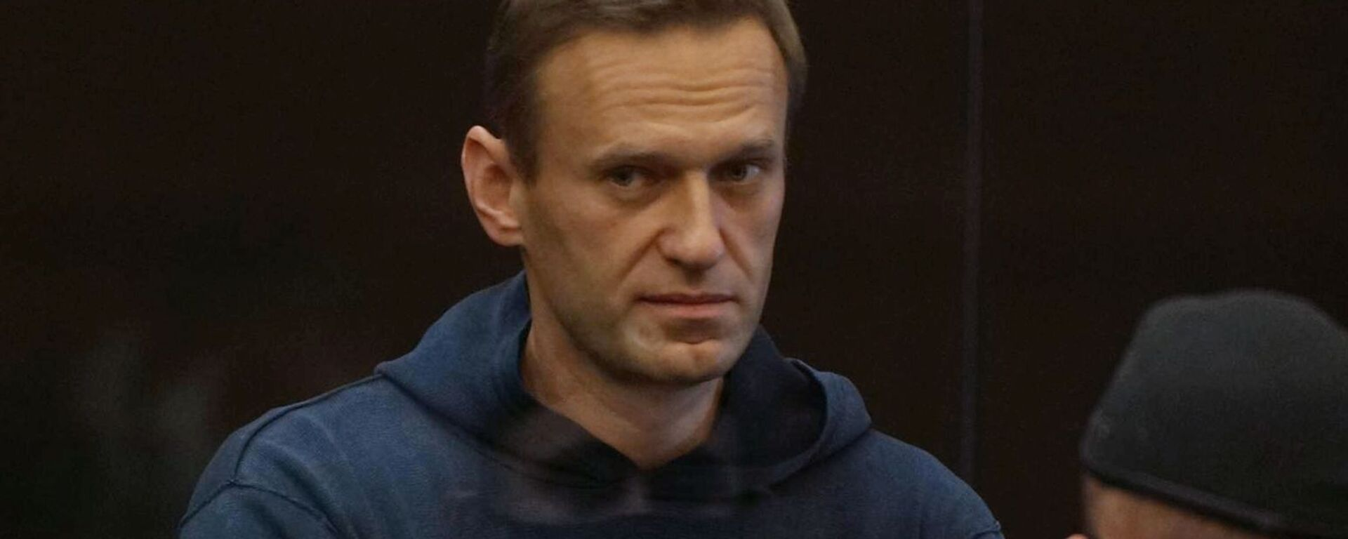 Aleksej Nawalny na posiedzeniu sądu 2 lutego 2021 w Moskwie - Sputnik Polska, 1920, 02.02.2021