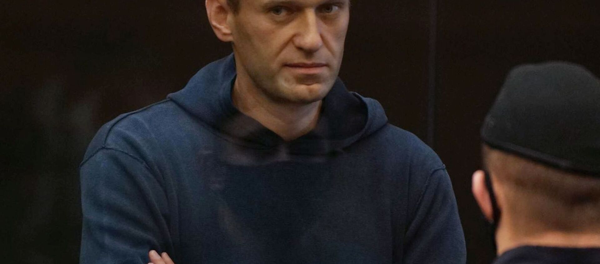 Aleksej Nawalny na posiedzeniu sądu 2 lutego 2021 w Moskwie - Sputnik Polska, 1920, 02.03.2021