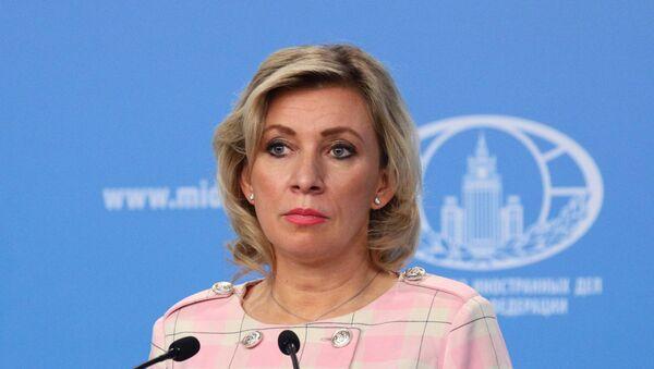 Rzeczniczka Ministerstwa Spraw Zagranicznych Rosji Maria Zacharowa podczas briefingu w Moskwie - Sputnik Polska