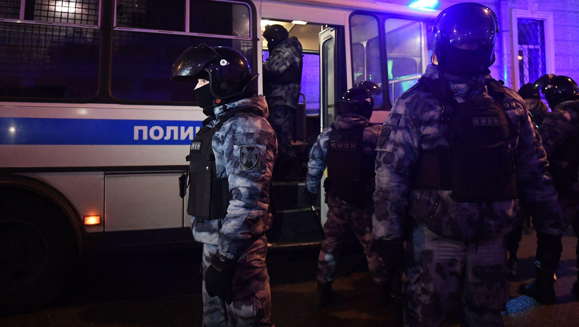 Protesty zwolenników Aleksieja Nawalnego w Moskwie. Działania OMON - Sputnik Polska, 1920, 14.03.2021