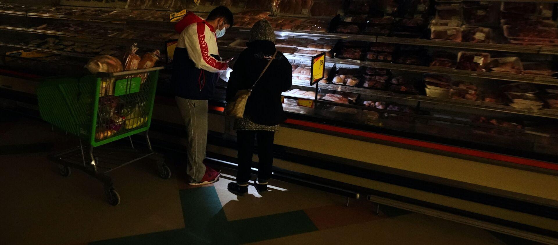 Kupujący w supermarkecie w Dallas, Teksas - Sputnik Polska, 1920, 21.02.2021