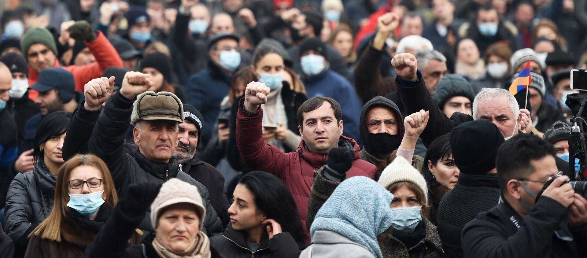 Protesty opozycji w Erywaniu - Sputnik Polska, 1920, 07.04.2021