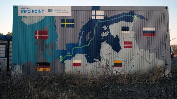 Obiekty lądowe gazociągu Nord Stream 2 w Lubminie w Niemczech. - Sputnik Polska