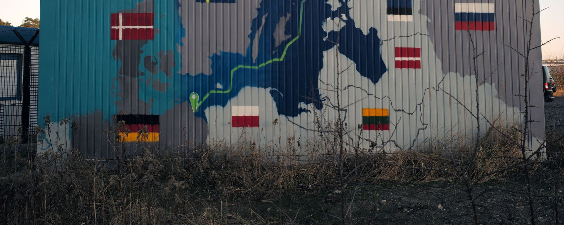 Obiekty lądowe gazociągu Nord Stream 2 w Lubminie w Niemczech. - Sputnik Polska, 1920, 03.03.2021