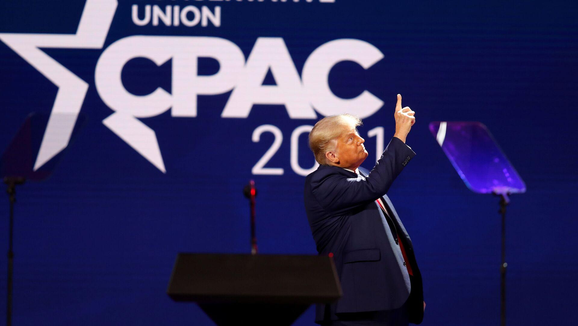Donald Trump na Konferencji Konserwatywnej Akcji Politycznej (CPAC) w Orlando na Florydzie. - Sputnik Polska, 1920, 01.03.2021
