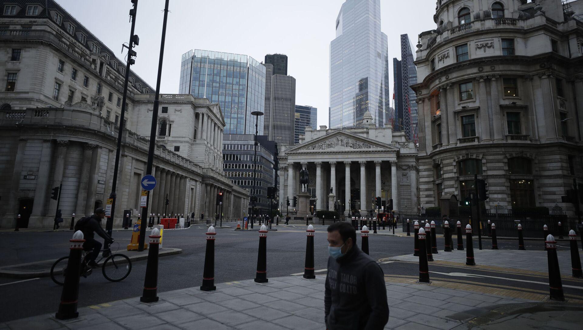 Widok na dzielnicę finansową City w Londynie w Wielkiej Brytanii - Sputnik Polska, 1920, 01.03.2021