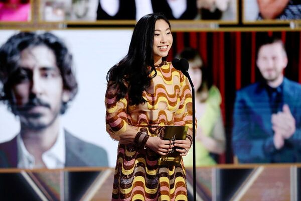 Актриса Аквафина на церемонии награждения премии Золотой глобус в США. - Sputnik Polska