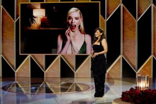 Актриса Аня Тейлор-Джой во время церемонии награждения премии Золотой глобус в США. - Sputnik Polska