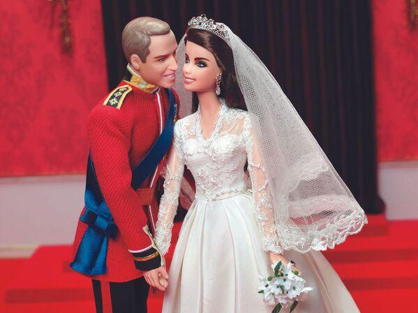 Ken Książe William i Barbie Kate Middleton w dniu ślubu - Sputnik Polska