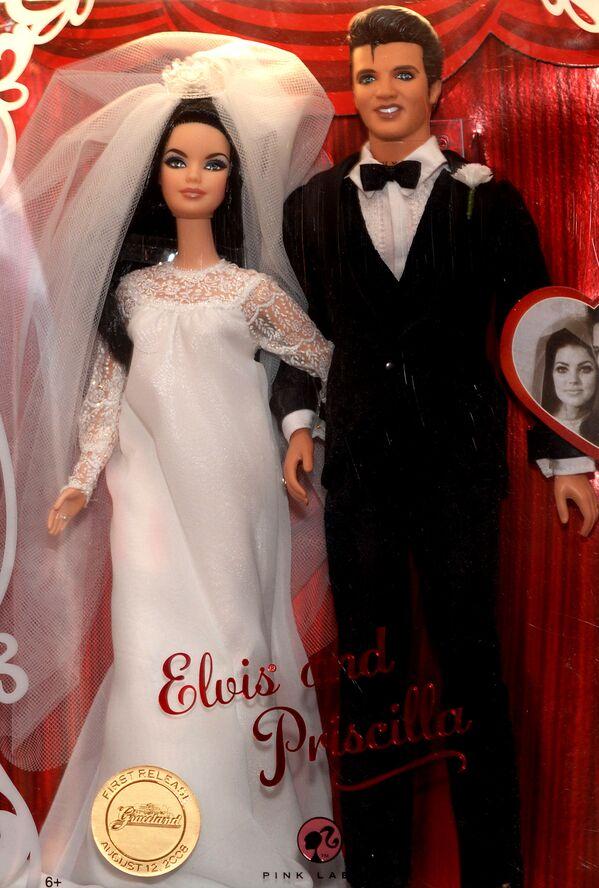 Ken Elvis Presley i jego żona Priscilla - Sputnik Polska