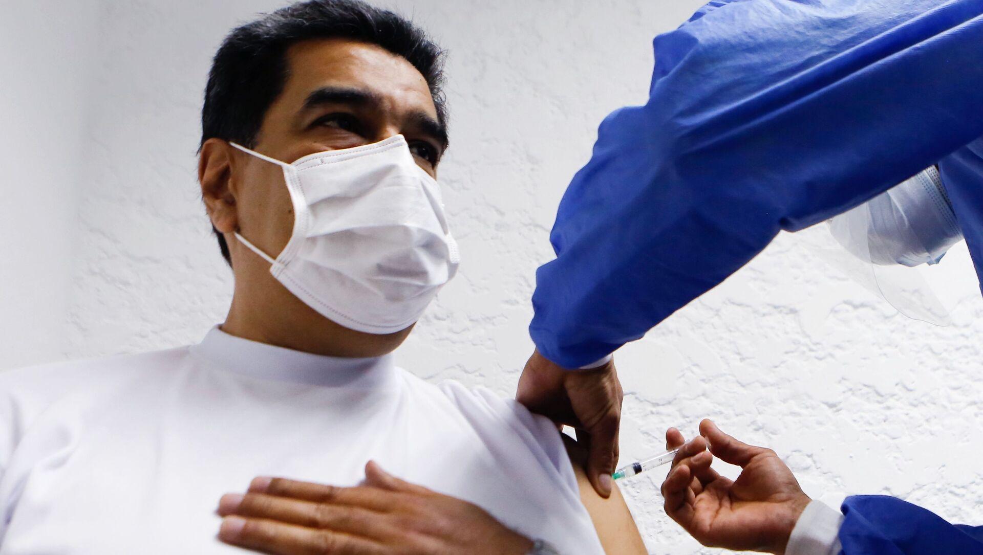 Prezydent Wenezueli Maduro zaszczepiony szczepionką Sputnik V - Sputnik Polska, 1920, 22.03.2021