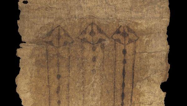Pas z owczej skóry z XV wieku, służący jako talizman podczas porodu. - Sputnik Polska