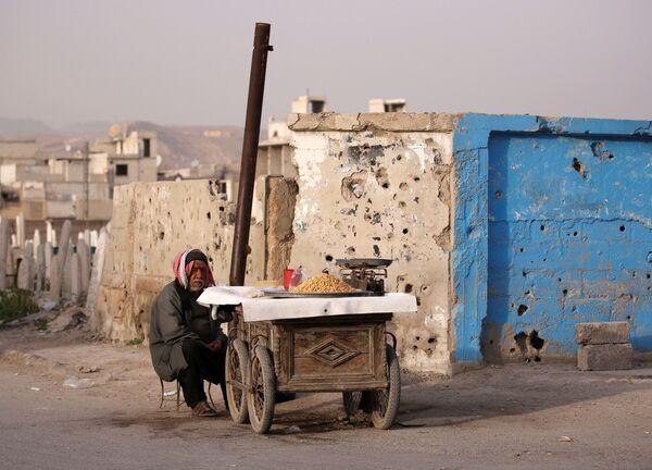 Sprzedawca uliczny w Dumie, na przedmieściach Damaszku, Syria - Sputnik Polska