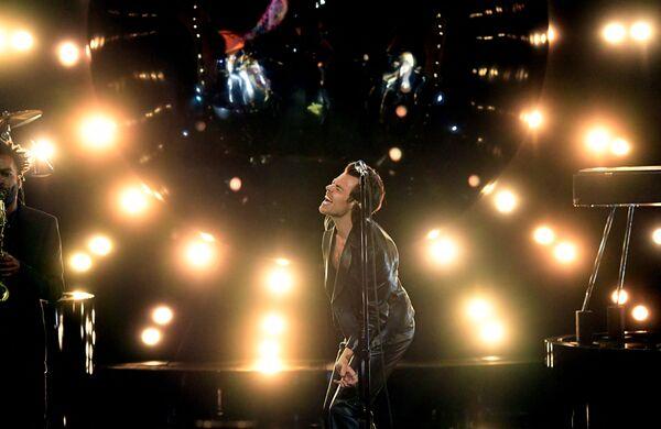 Piosenkarz Harry Styles na 63. ceremonii rozdania nagród Grammy w Los Angeles - Sputnik Polska