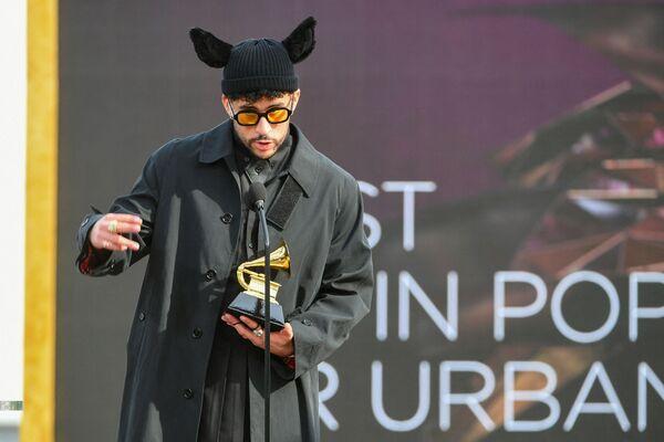 Piosenkarz Bad Bunny na 63. ceremonii rozdania nagród Grammy w Los Angeles - Sputnik Polska