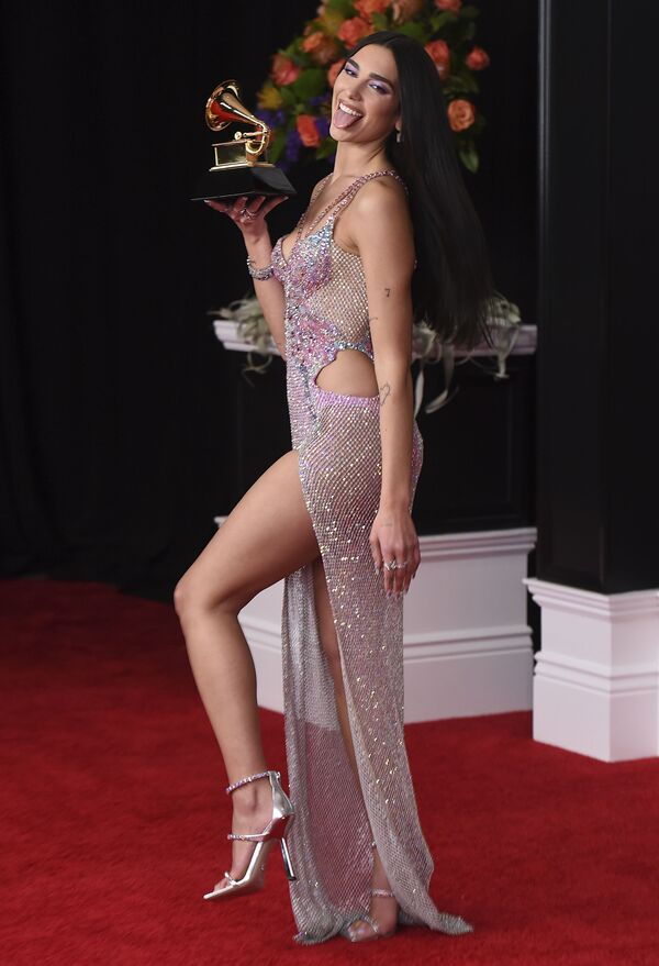 Piosenkarka Dua Lipa na 63. ceremonii rozdania nagród Grammy w Los Angeles - Sputnik Polska