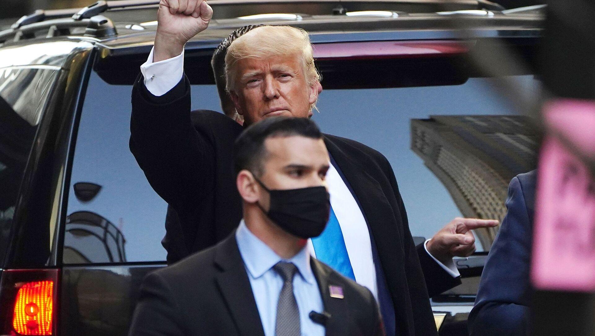 Były prezydent USA Donald Trump w Nowym Jorku - Sputnik Polska, 1920, 17.03.2021