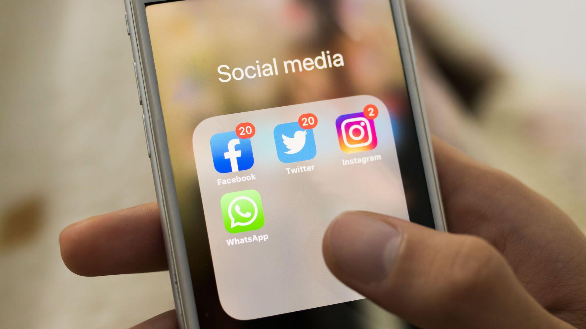 Facebook, Twitter, Instagram, WhatsApp  - Sputnik Polska, 1920, 08.10.2021