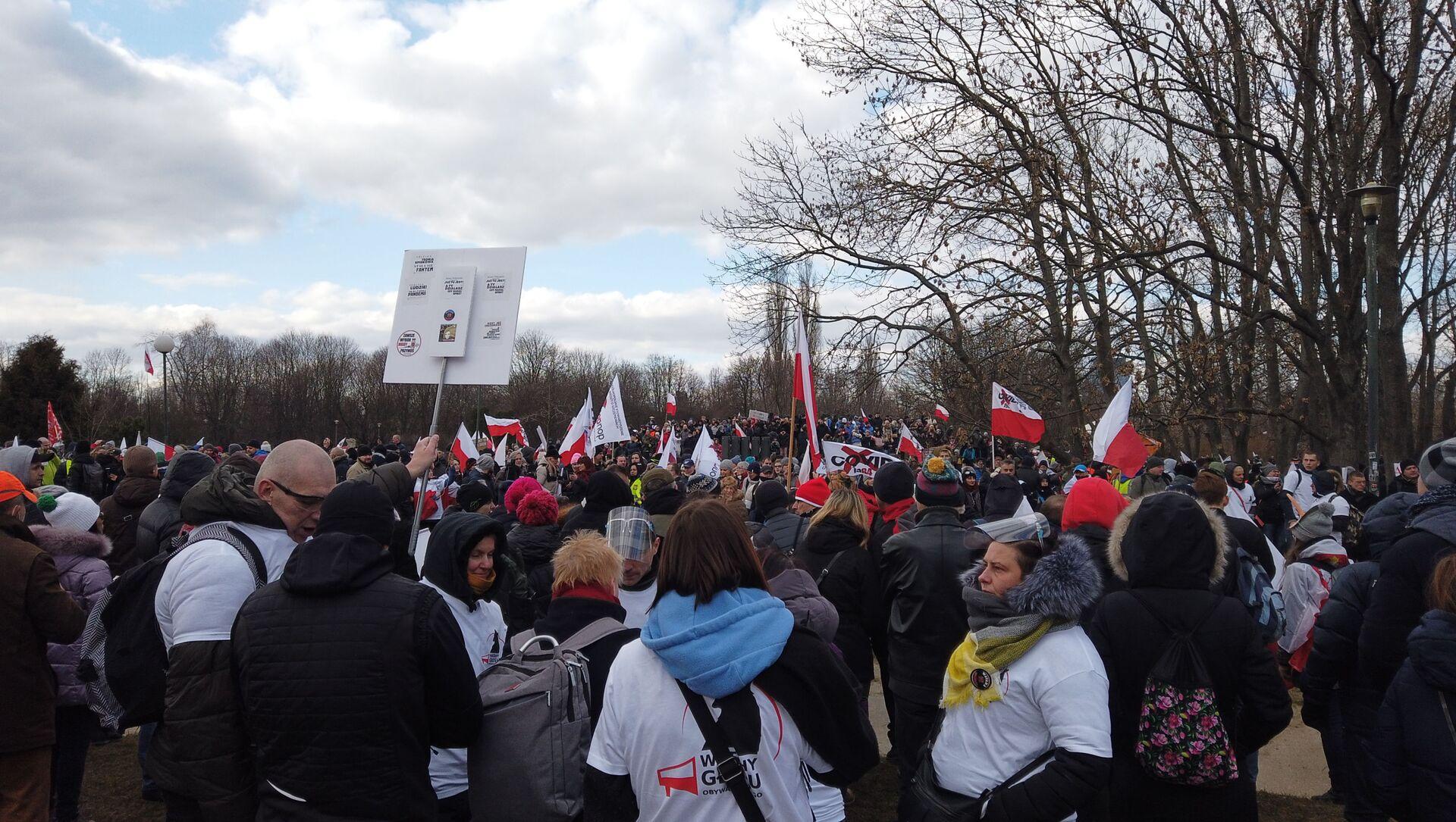 Marsz Idziemy po wolność w Warszawie 20 marca 2021 - Sputnik Polska, 1920, 20.03.2021