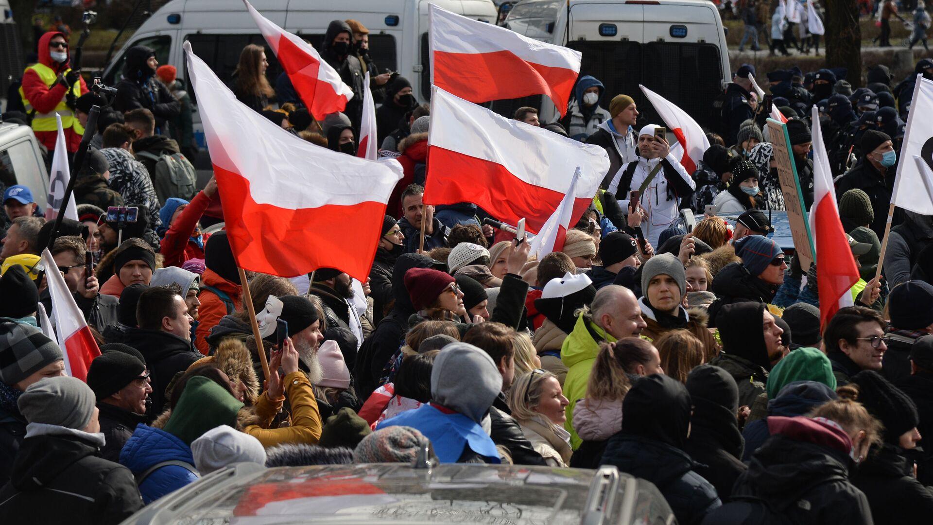 Protesty w Warszawie - Sputnik Polska, 1920, 09.09.2021