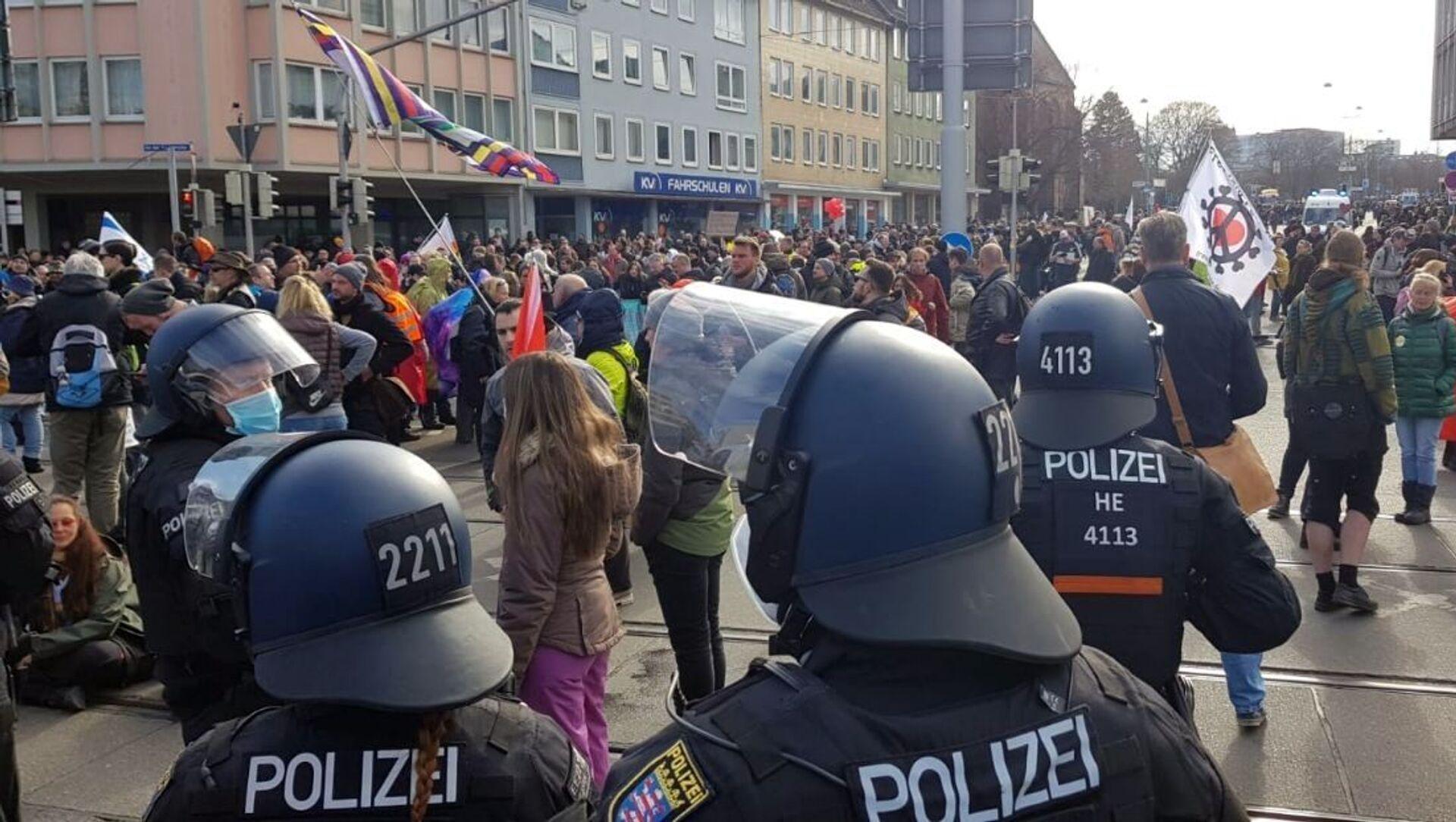 Protesty w Niemczech - Sputnik Polska, 1920, 20.03.2021