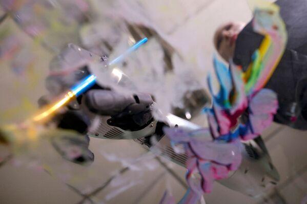 Robot Sophia maluje, Hongkong - Sputnik Polska