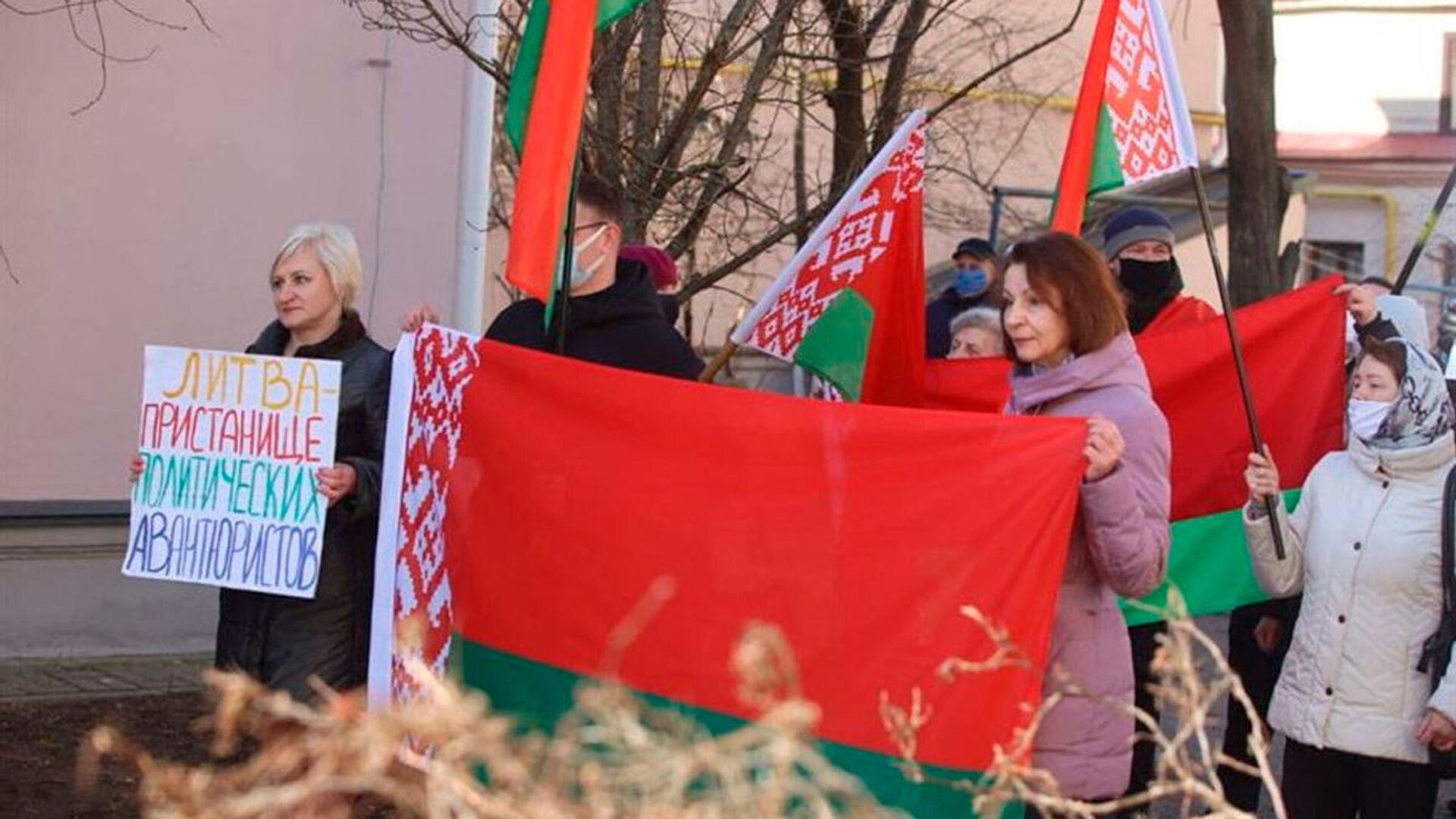 Protesty pod polskimi konsulatami na Białorusi - Sputnik Polska, 1920, 24.03.2021
