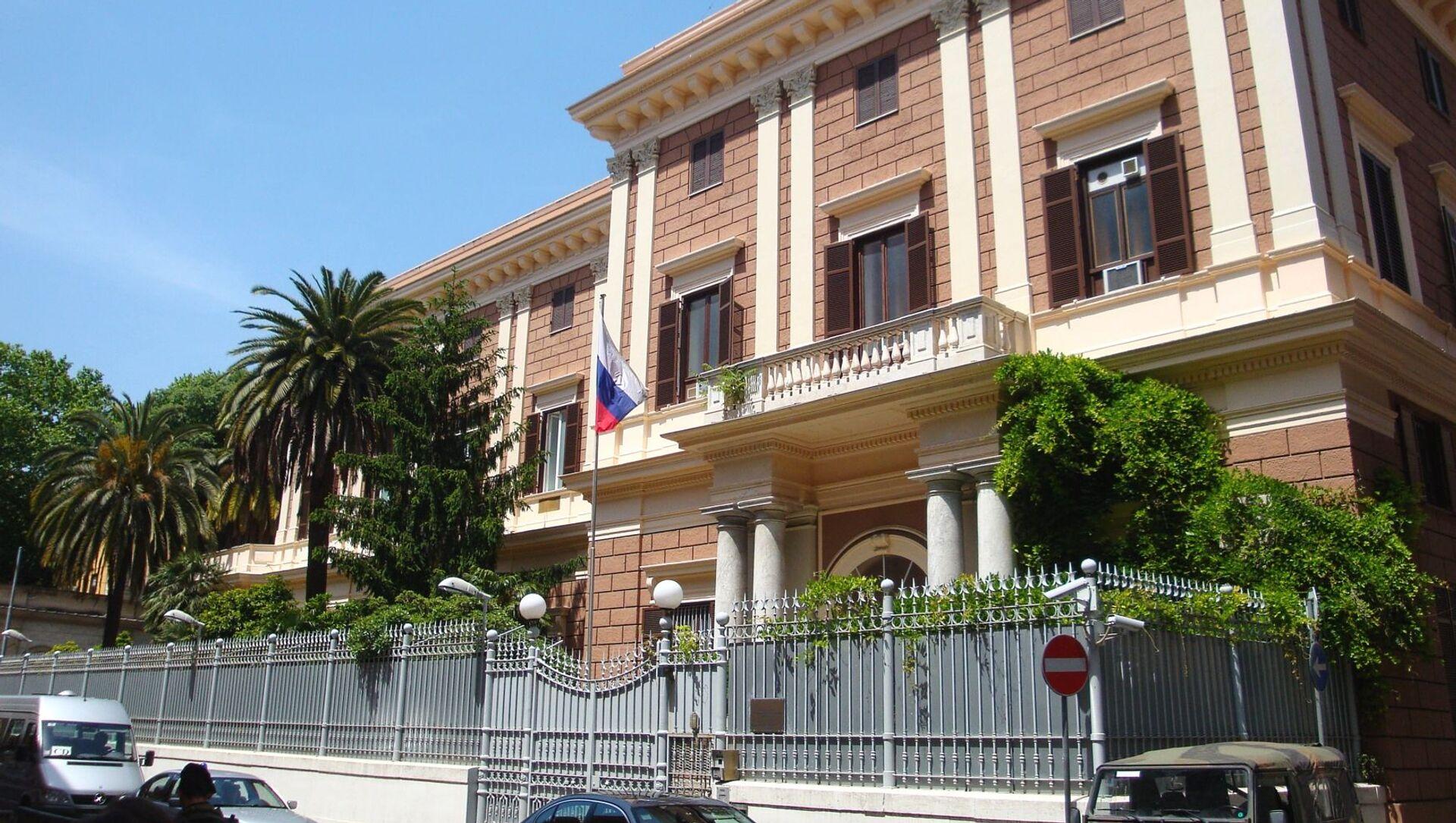 Budynek Ambasady Federacji Rosyjskiej we Włoszech - Sputnik Polska, 1920, 31.03.2021