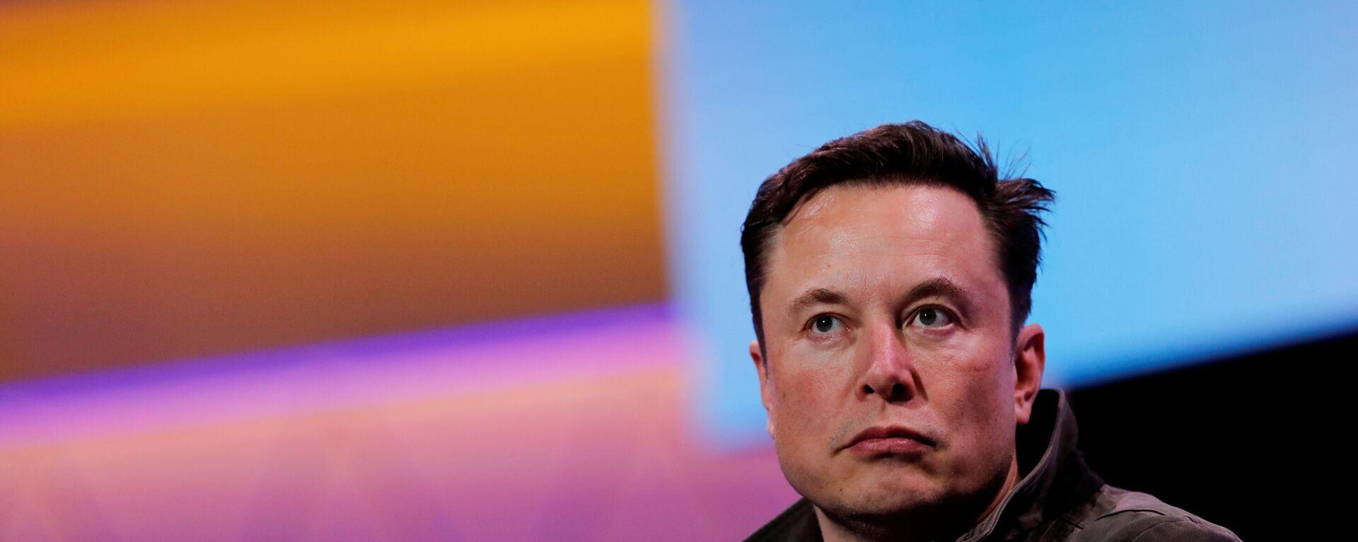 Założyciel Tesli i SpaceX Elon Musk - Sputnik Polska, 1920, 15.08.2021