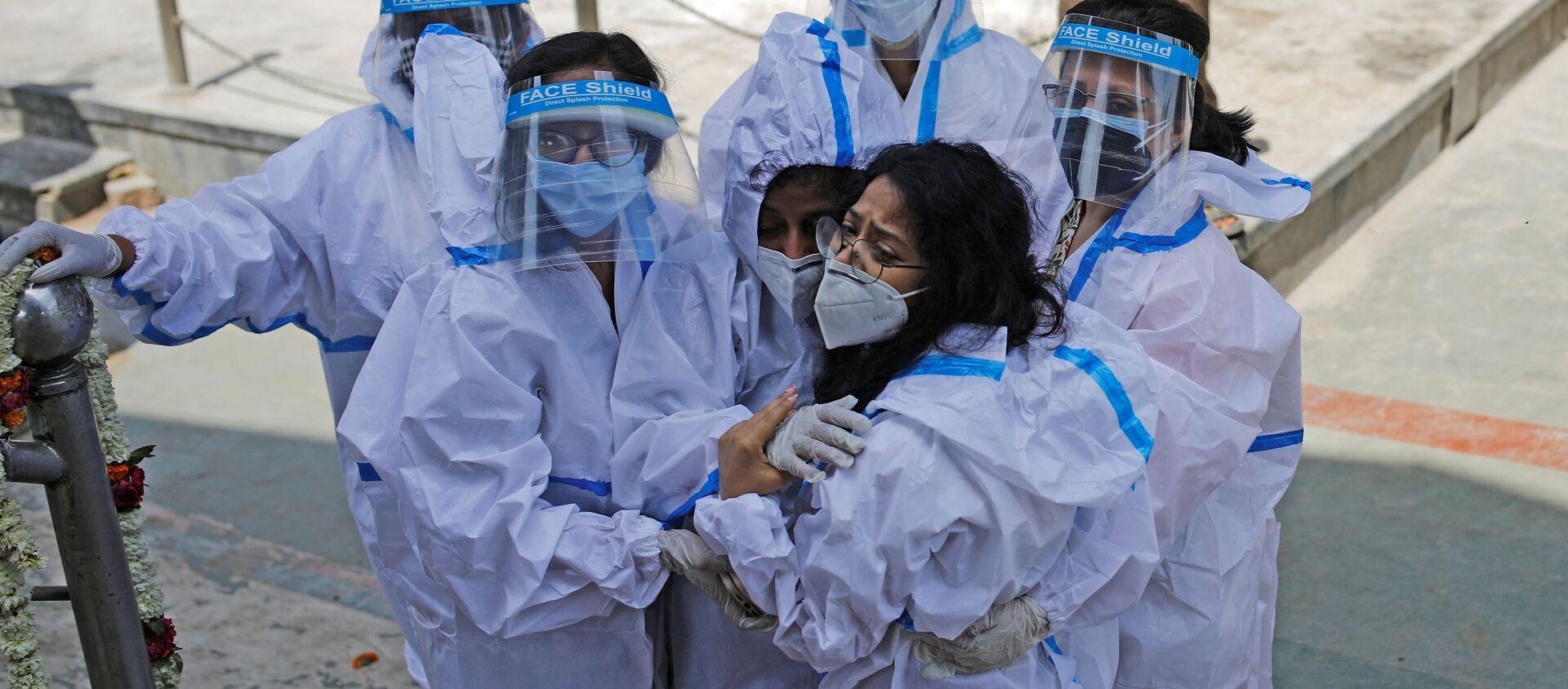 Pandemia koronawirusa SARS-CoV-2. New Delhi, Indie. - Sputnik Polska, 1920, 04.05.2021