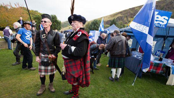 Marsz Niepodległości Szkocji w Edynburgu - Sputnik Polska