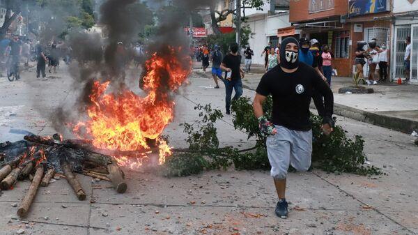 Protesty w Kolumbii - Sputnik Polska