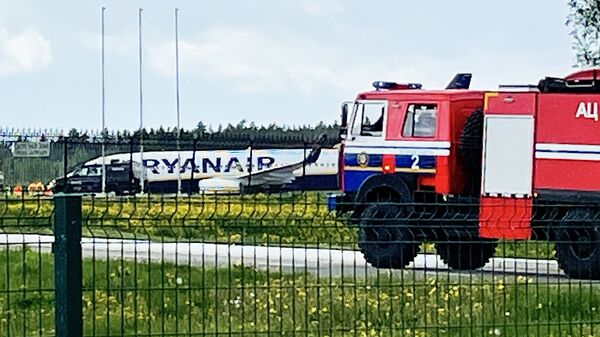 Samolot Ryanair w Mińsku - Sputnik Polska