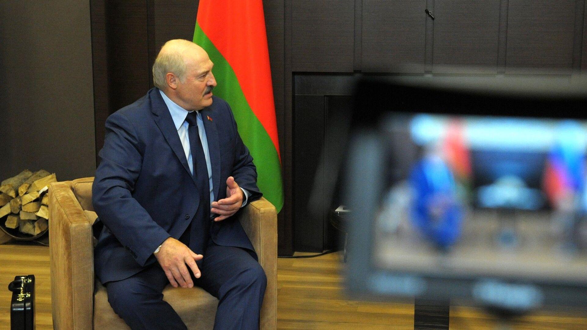 Prezydent Białorusi Alaksandr Łukaszenka podczas spotkania z prezydentem Rosji Władimirem Putinem - Sputnik Polska, 1920, 08.09.2021