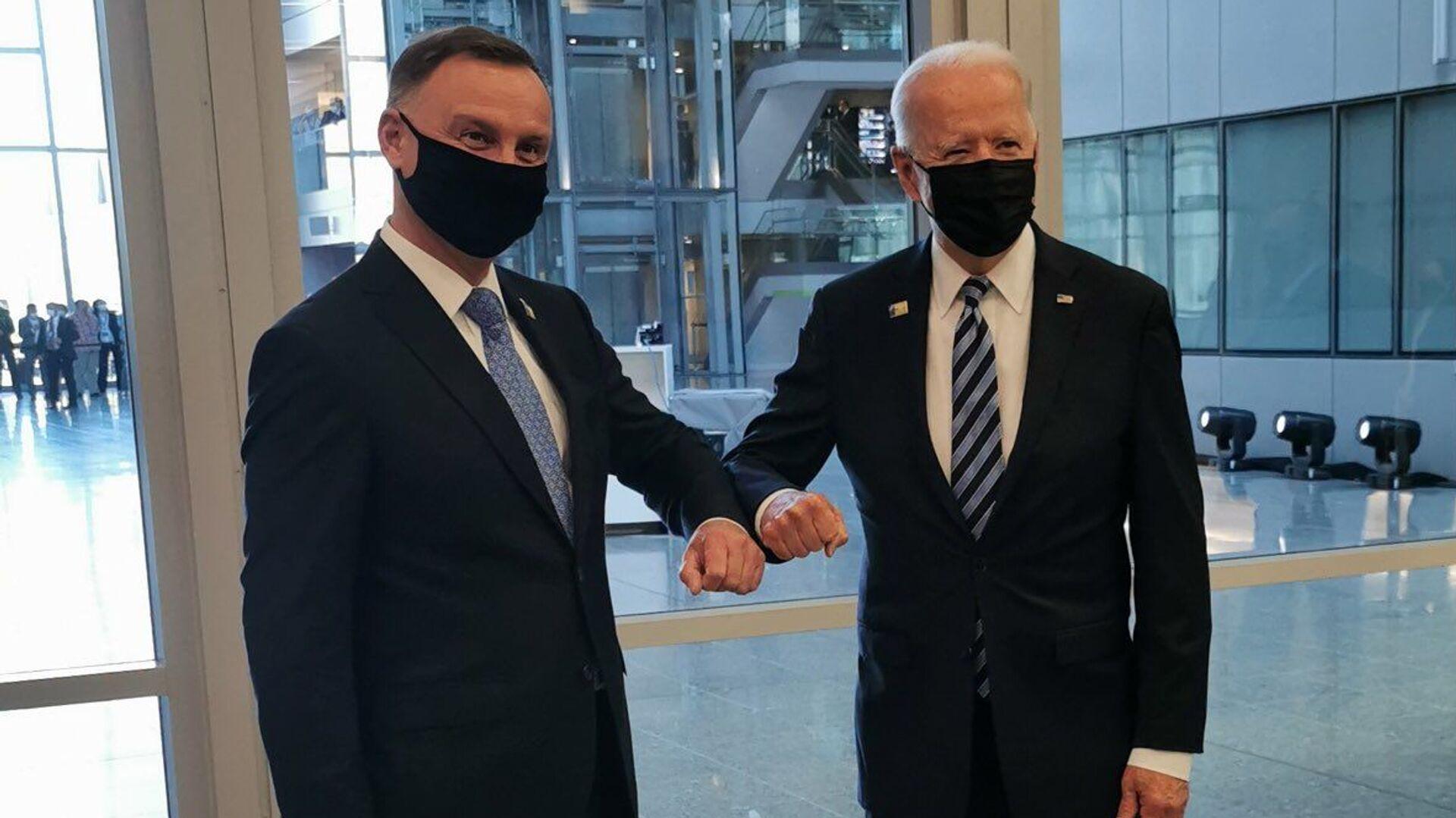 Andrzej Duda i Joe Biden - Sputnik Polska, 1920, 27.08.2021