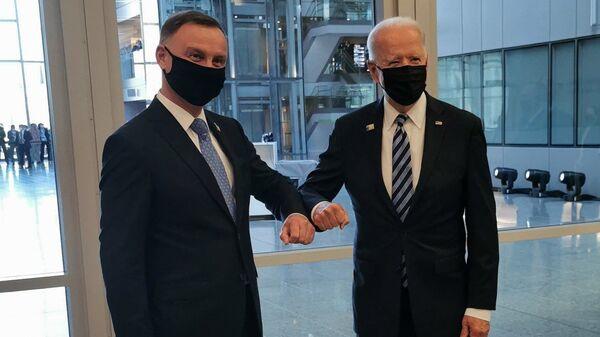 Andrzej Duda i Joe Biden - Sputnik Polska