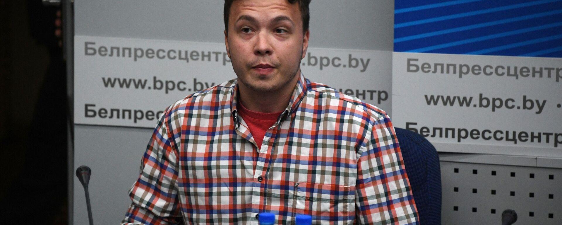 Raman Pratasiewicz na konferencji prasowej w Mińsku - Sputnik Polska, 1920, 07.07.2021