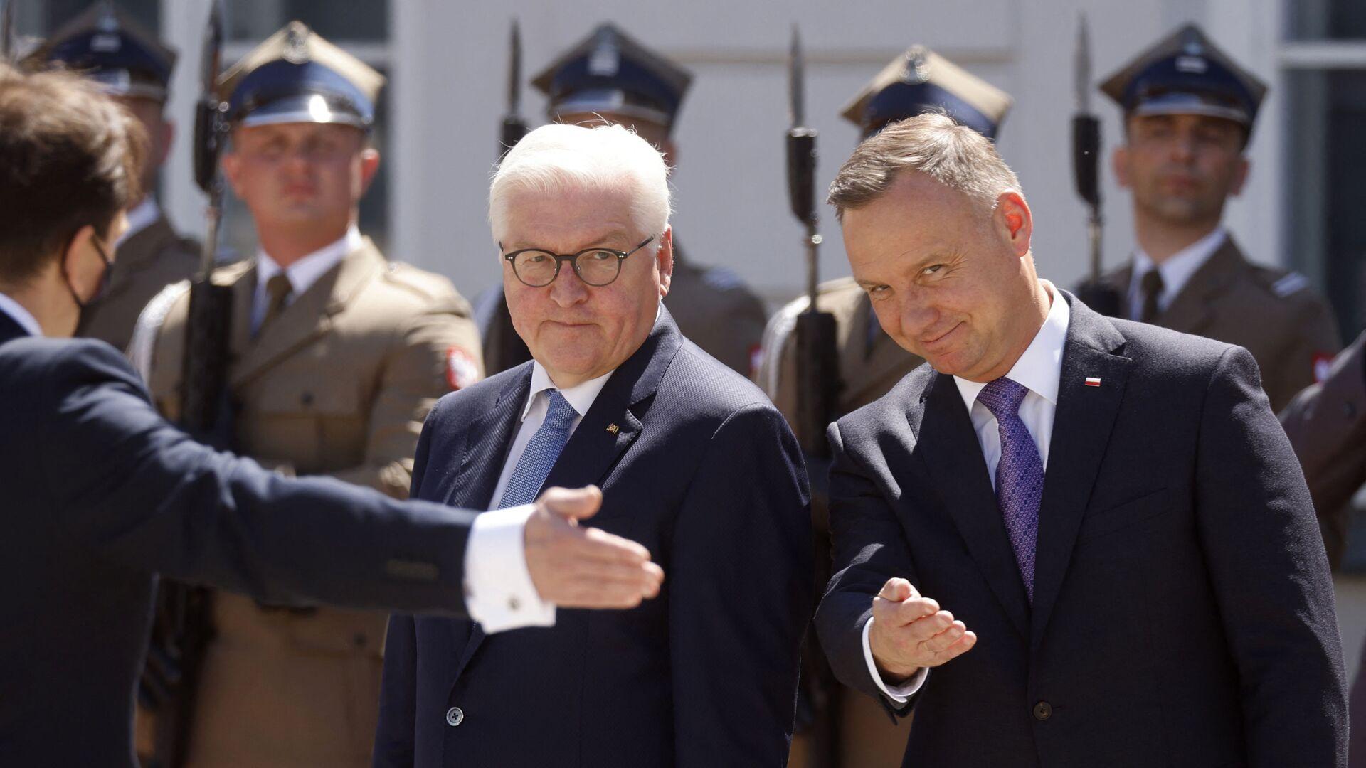 Andrzej Duda i prezydent Niemiec Frank-Walter Steinmeier  - Sputnik Polska, 1920, 03.10.2021