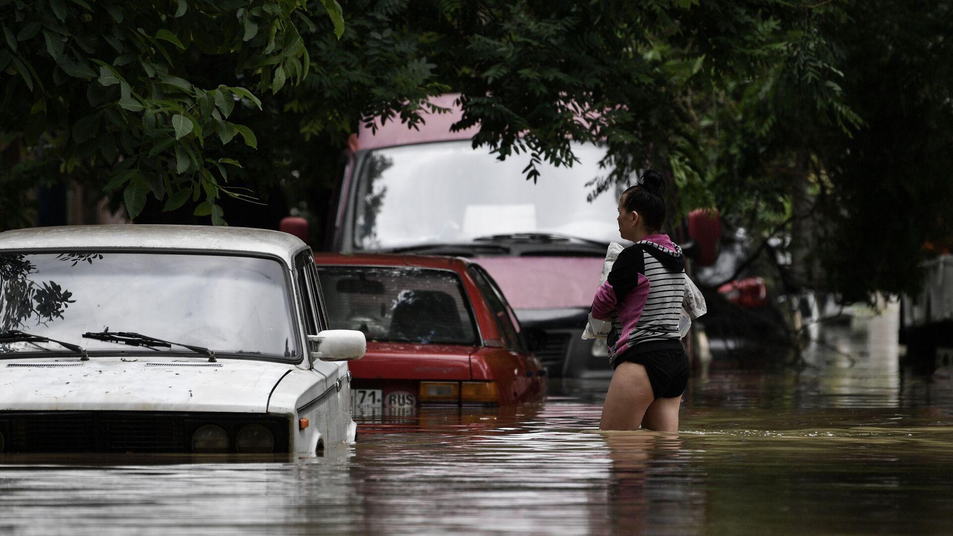 Miasto Kercz zatopione z powodu ulewnych deszczy - Sputnik Polska, 1920, 23.07.2021