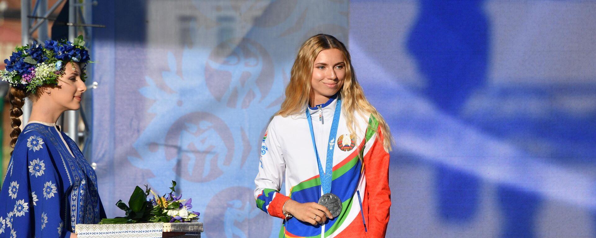 Награждение белорусских легкоатлетов, успешно выступивших на II Европейских играх - Sputnik Polska, 1920, 03.08.2021