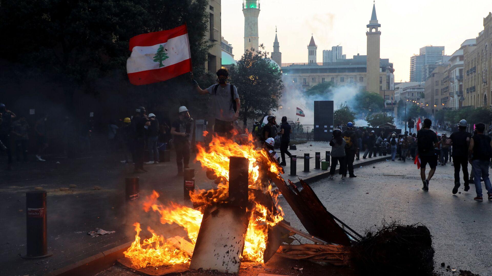 Protesty w Bejrucie - Sputnik Polska, 1920, 04.08.2021